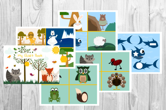 Download Free Printable Animals Shapes Flash Cards Graphic By Igraphic Studio for Cricut Explore, Silhouette and other cutting machines.