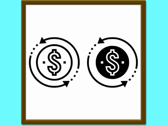 Download Free Return On Investment Line And Glyph Icon Graphic By Anrasoft for Cricut Explore, Silhouette and other cutting machines.