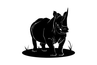 Download Free Rhino Silhouette Graphic By Rfg Creative Fabrica for Cricut Explore, Silhouette and other cutting machines.