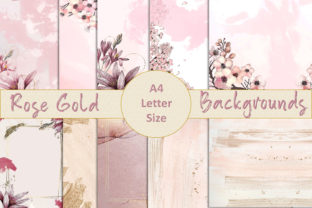 Rose Gold Backgrounds Graphic Backgrounds By DigitalCraftsco