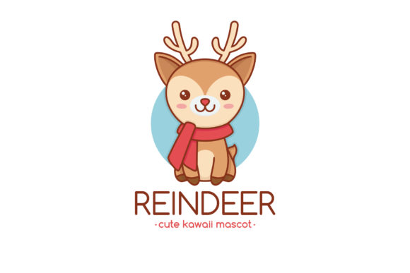 Download Free Rudolph Reindeer Logo Template Graphic By Vectorwithin for Cricut Explore, Silhouette and other cutting machines.