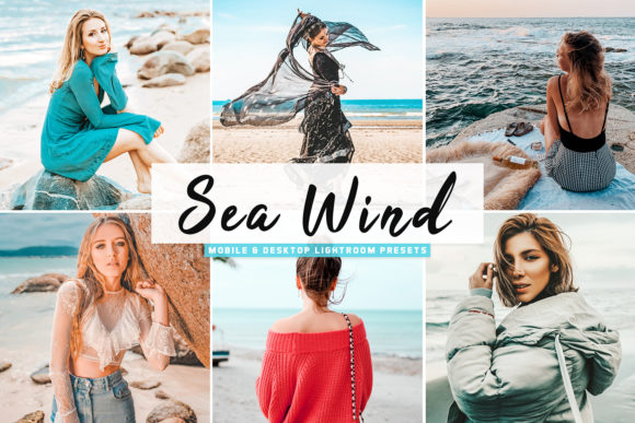 Print on Demand: Sea Foam Lightroom Presets Graphic Actions & Presets By Creative Tacos