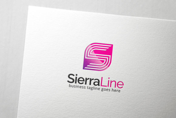 Download Free Sierra Line Letter S Logo Graphic By Slim Studio Creative Fabrica for Cricut Explore, Silhouette and other cutting machines.