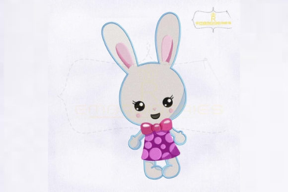 So Cute Miss Bunny Easter Easter Embroidery Design By RoyalEmbroideries
