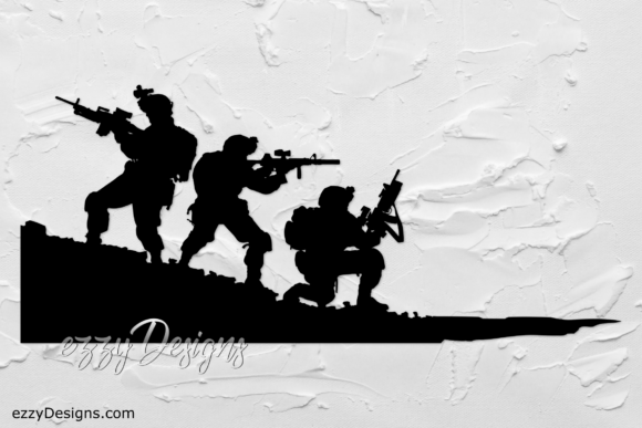 Print on Demand: Soldier, Military, 4th of July Graphic Crafts By ezzyDesigns