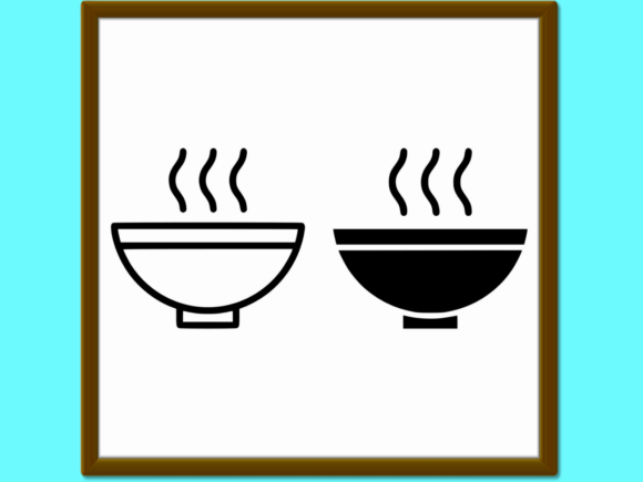 Download Free Soup Line And Glyph Icon Food And Meal H Graphic By Anrasoft for Cricut Explore, Silhouette and other cutting machines.