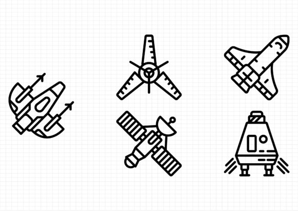 Space Graphic Icons By beryladamayu