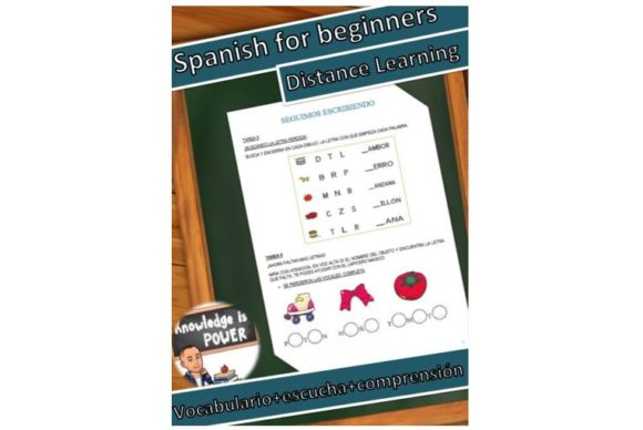 Spanish for Beginners, Distance Learning Graphic Teaching Materials By alifarid