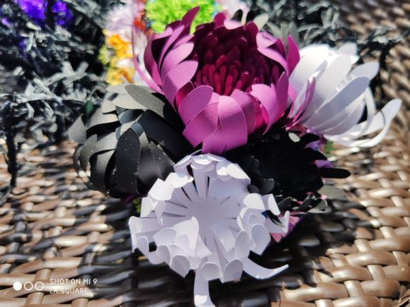 Spider Mums Paper Flower Template Graphic By Lasquare Info