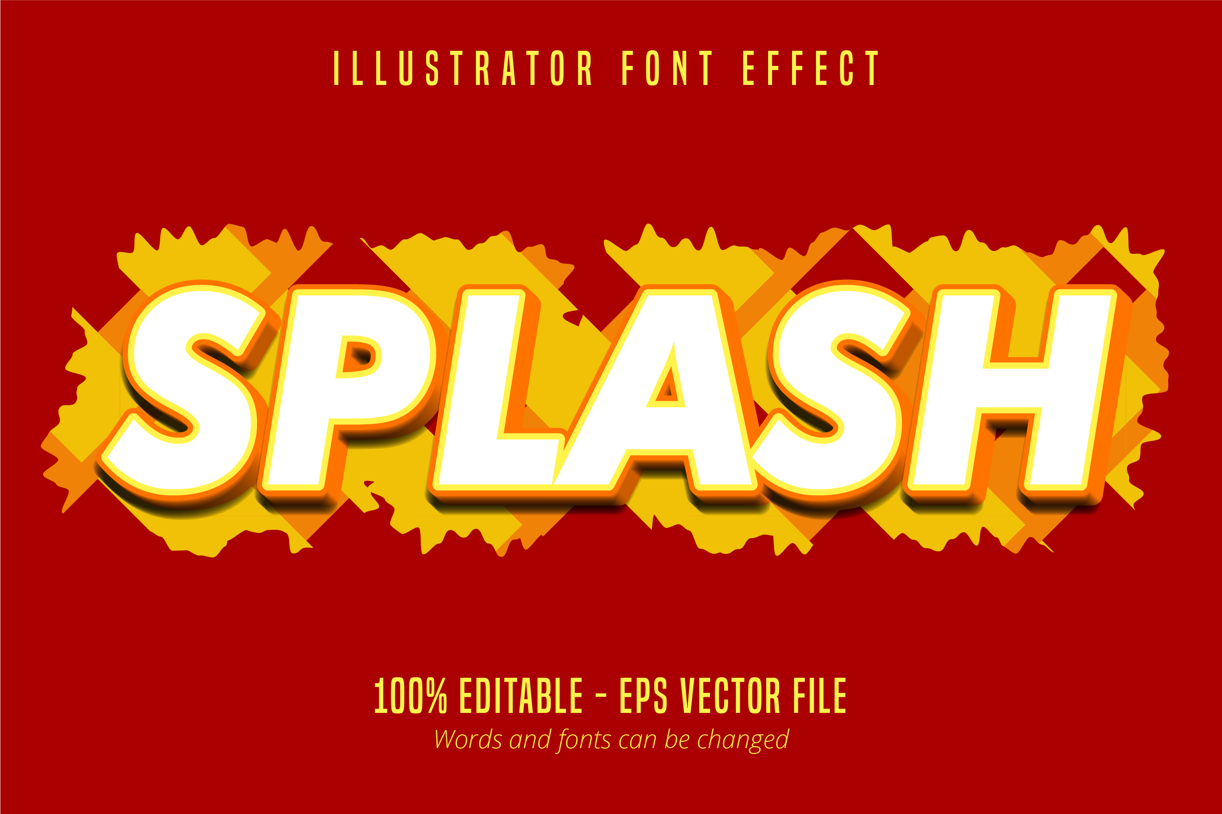 Download Free Splash Text Roughen Text Effect Graphic By Mustafa Beksen for Cricut Explore, Silhouette and other cutting machines.