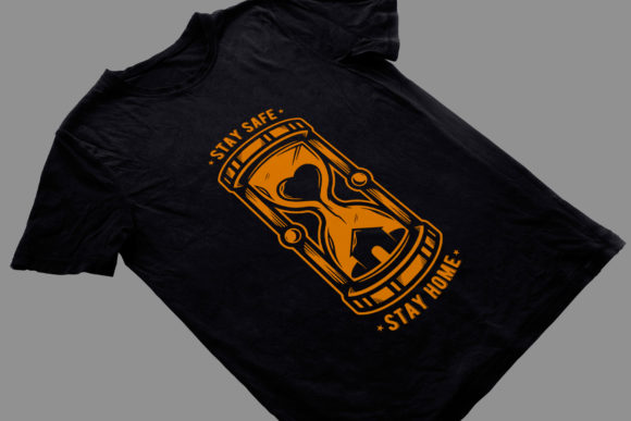 Stay at Home Hourglass Tattoo T-shirt Graphic Illustrations By vectorwithin