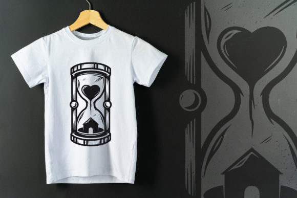 Stay at Home Hourglass Vector Tattoo Art Graphic Illustrations By vectorwithin