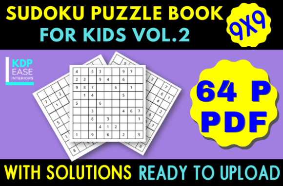 Print on Demand: Sudoku Puzzles Book for Kids (Vol. 2) Graphic KDP Interiors By KDP EASE