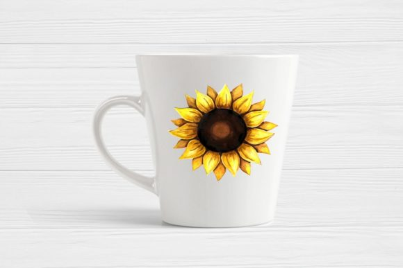 Print on Demand: Sunflower Clipart Watercolor Graphic Illustrations By  Magic world of design - Image 4