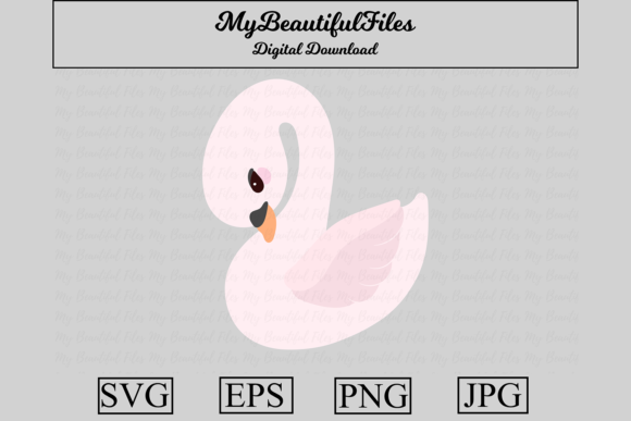 Print on Demand: Swan Clipart Design Graphic Crafts By MyBeautifulFiles