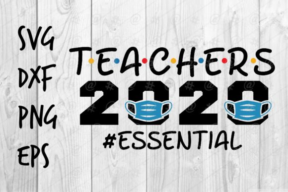 Download Free Teacher 2020 Essential Graphic By Spoonyprint Creative Fabrica for Cricut Explore, Silhouette and other cutting machines.
