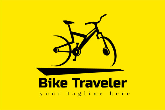 Download Free Template Bike Traveler Logo Graphic By Bllinkstudio Creative for Cricut Explore, Silhouette and other cutting machines.