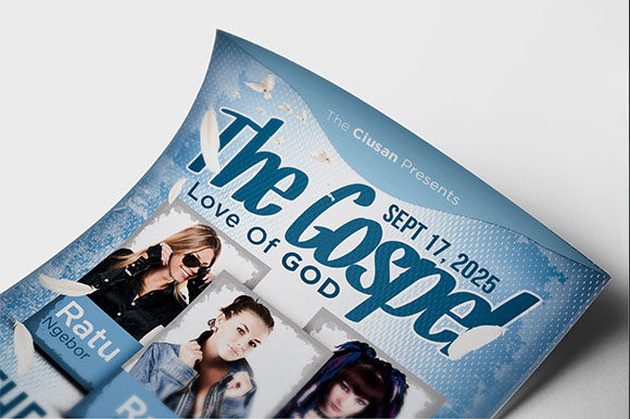 Download Free The Gospel Flyer Template Graphic By Ciusan Creative Fabrica for Cricut Explore, Silhouette and other cutting machines.