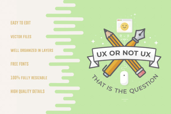 Download Free Ux Or Not Ux Web Banner Slider Graphic By Sargatal Creative for Cricut Explore, Silhouette and other cutting machines.