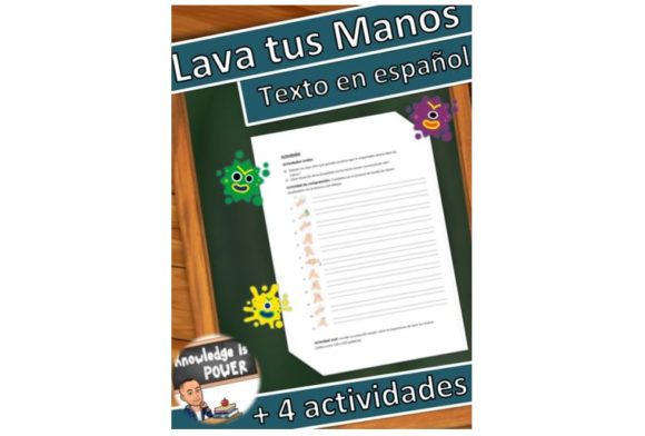 Wash Your Hands Spanish Graphic Teaching Materials By alifarid