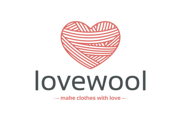 Wool Heart Logo Template Graphic Logos By vectorwithin