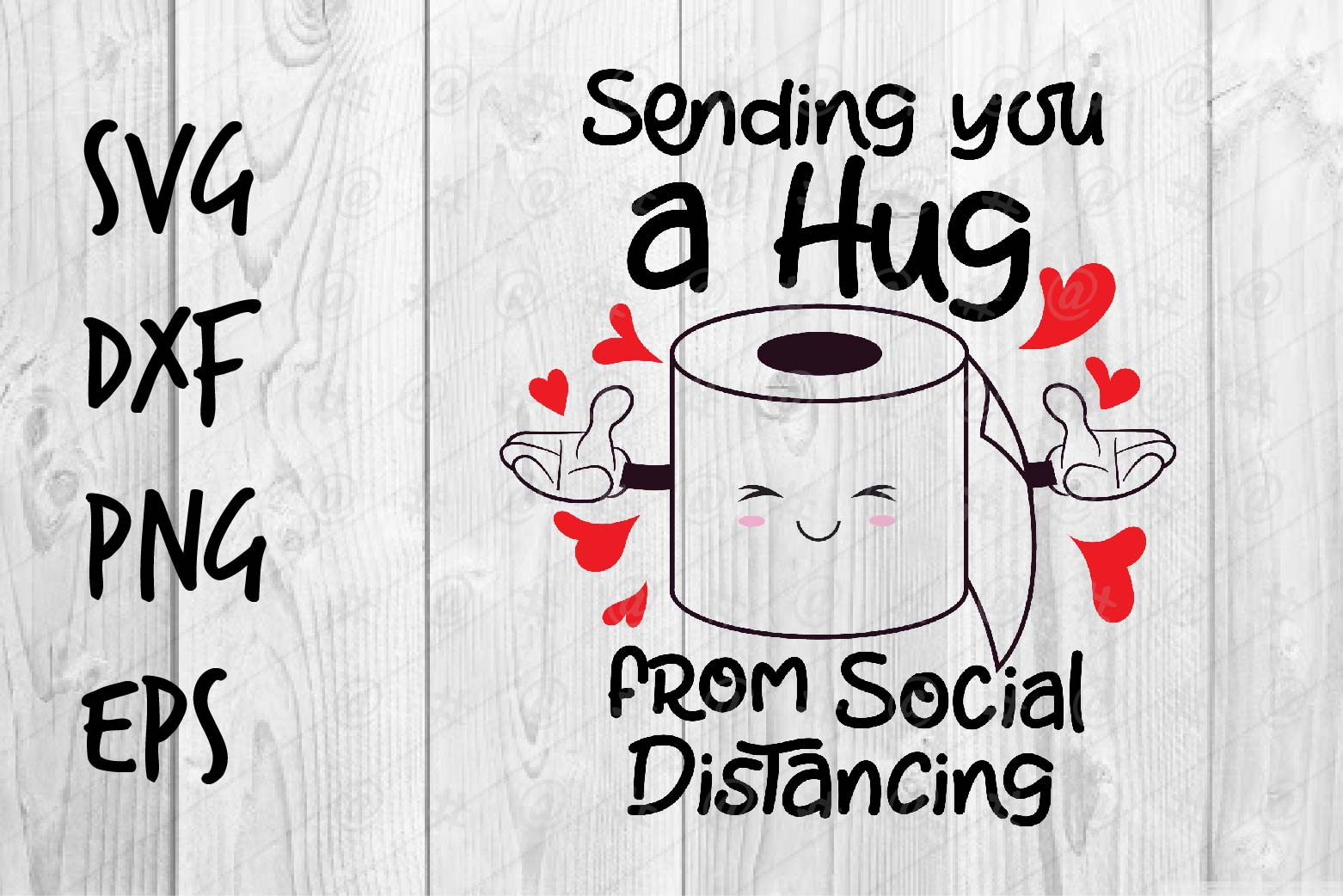 Download Free A Hug From Social Distancing Graphic By Spoonyprint Creative for Cricut Explore, Silhouette and other cutting machines.