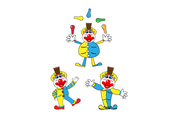 Funny Clown Graphic By Curutdesign Creative Fabrica