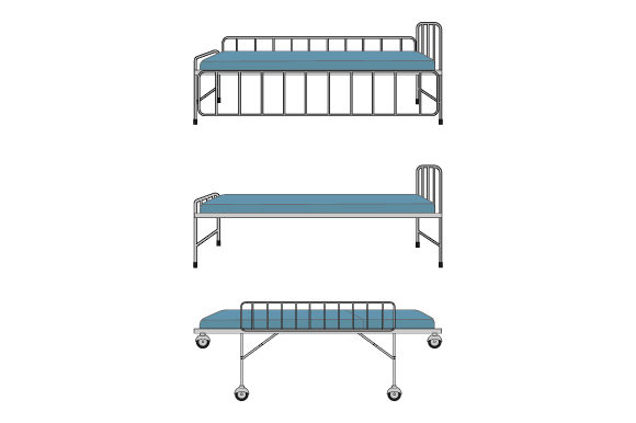 Download Free Hospital Bed Graphic By Curutdesign Creative Fabrica for Cricut Explore, Silhouette and other cutting machines.