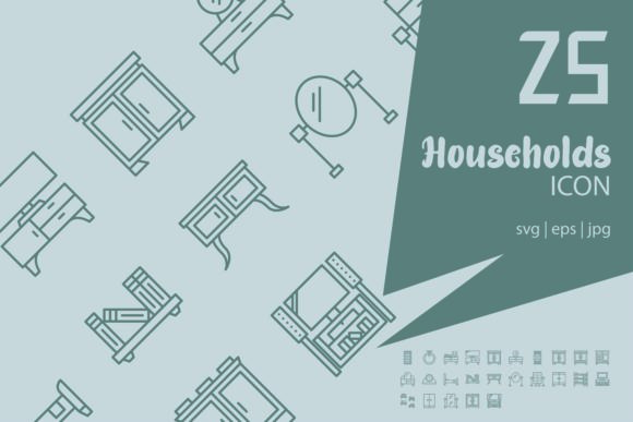 Households Graphic Icons By astuti.julia93@gmail.com