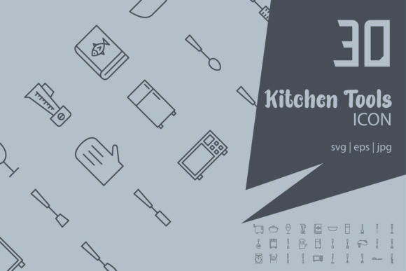 Download Free Kitchen Tools Graphic By Astuti Julia93 Gmail Com Creative Fabrica for Cricut Explore, Silhouette and other cutting machines.