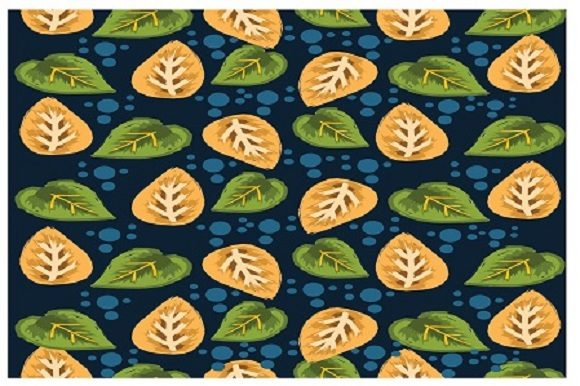 Print on Demand: Leaf Pattern Flat Design Graphic Patterns By ahmaddesign99