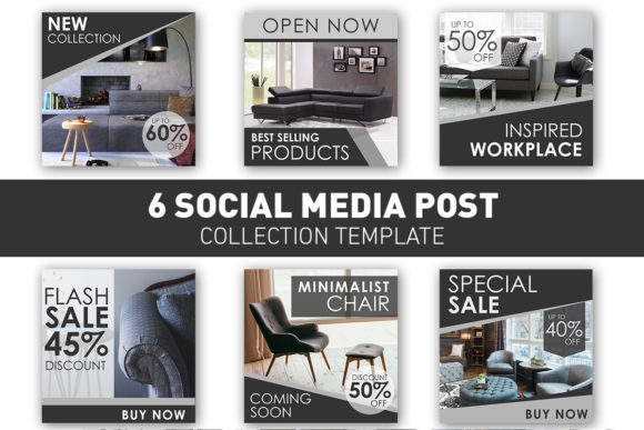 Social Media Post Furniture Black Graphic Web Templates By ant project template