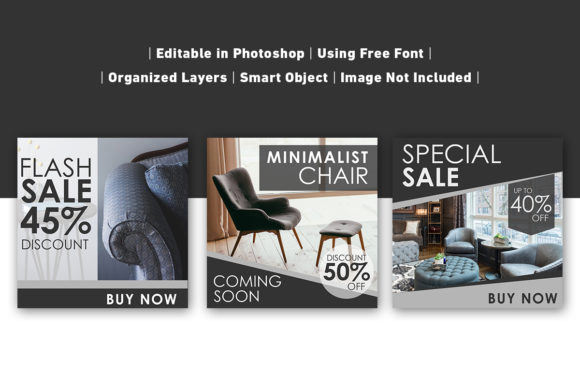 Download Free Social Media Post Furniture Black Graphic By Ant Project for Cricut Explore, Silhouette and other cutting machines.