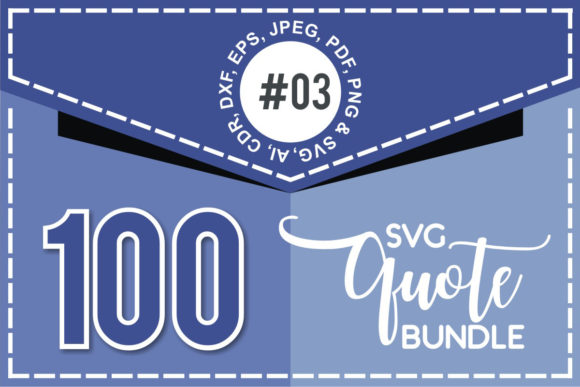 Print on Demand: 100+ SVG Cut Quote Bundle #3  By TheLucky