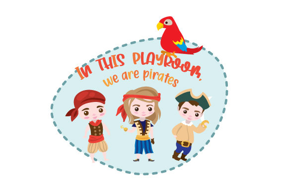In This Playroom We Are Pirates Svg Cut File By Creative