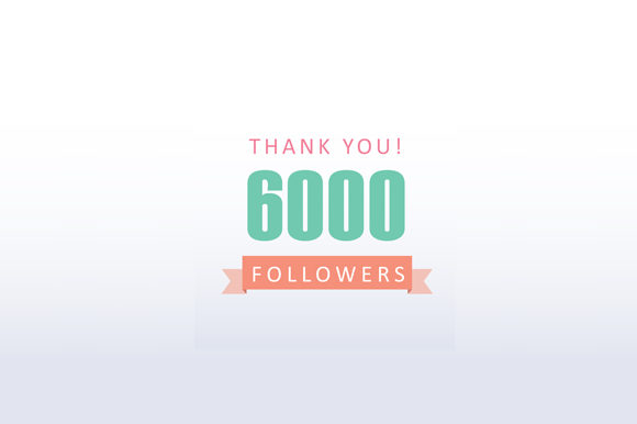 Download Free 6000 Followers Thank You Graphic By Shawlin Creative Fabrica for Cricut Explore, Silhouette and other cutting machines.