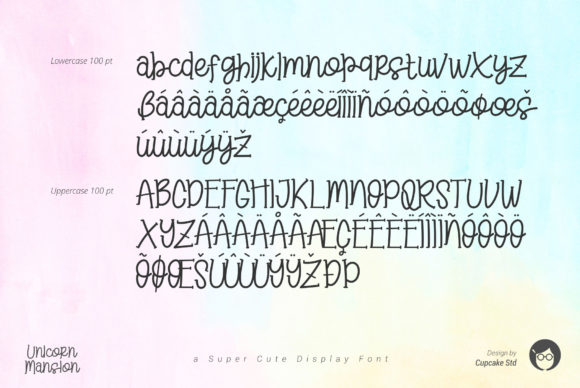 Download Free Al Unicorn Mansion Font By Cupcake Creative Fabrica for Cricut Explore, Silhouette and other cutting machines.