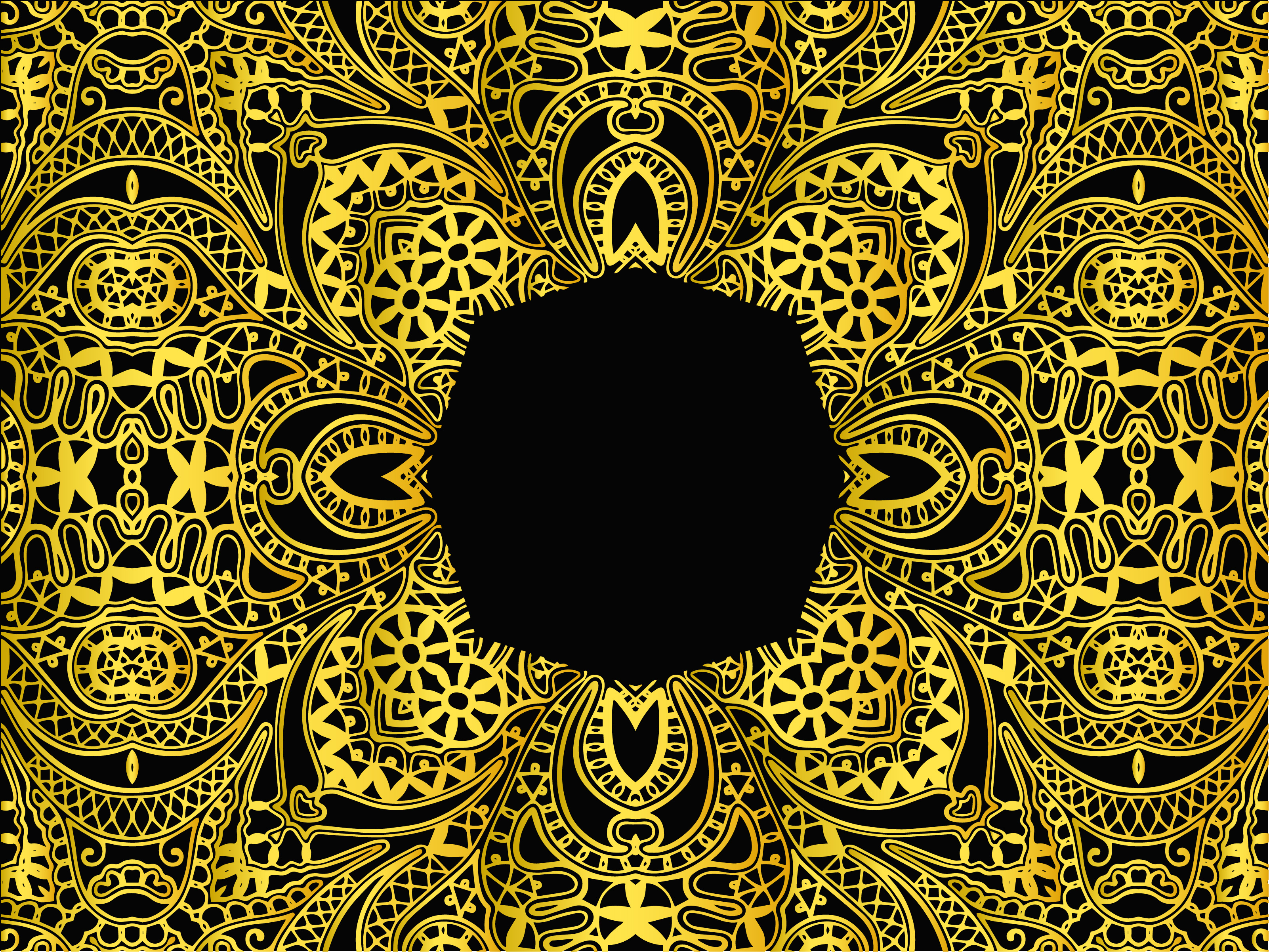 Download Free Abstract Pattern Gold Design Graphic By Vectorceratops for Cricut Explore, Silhouette and other cutting machines.