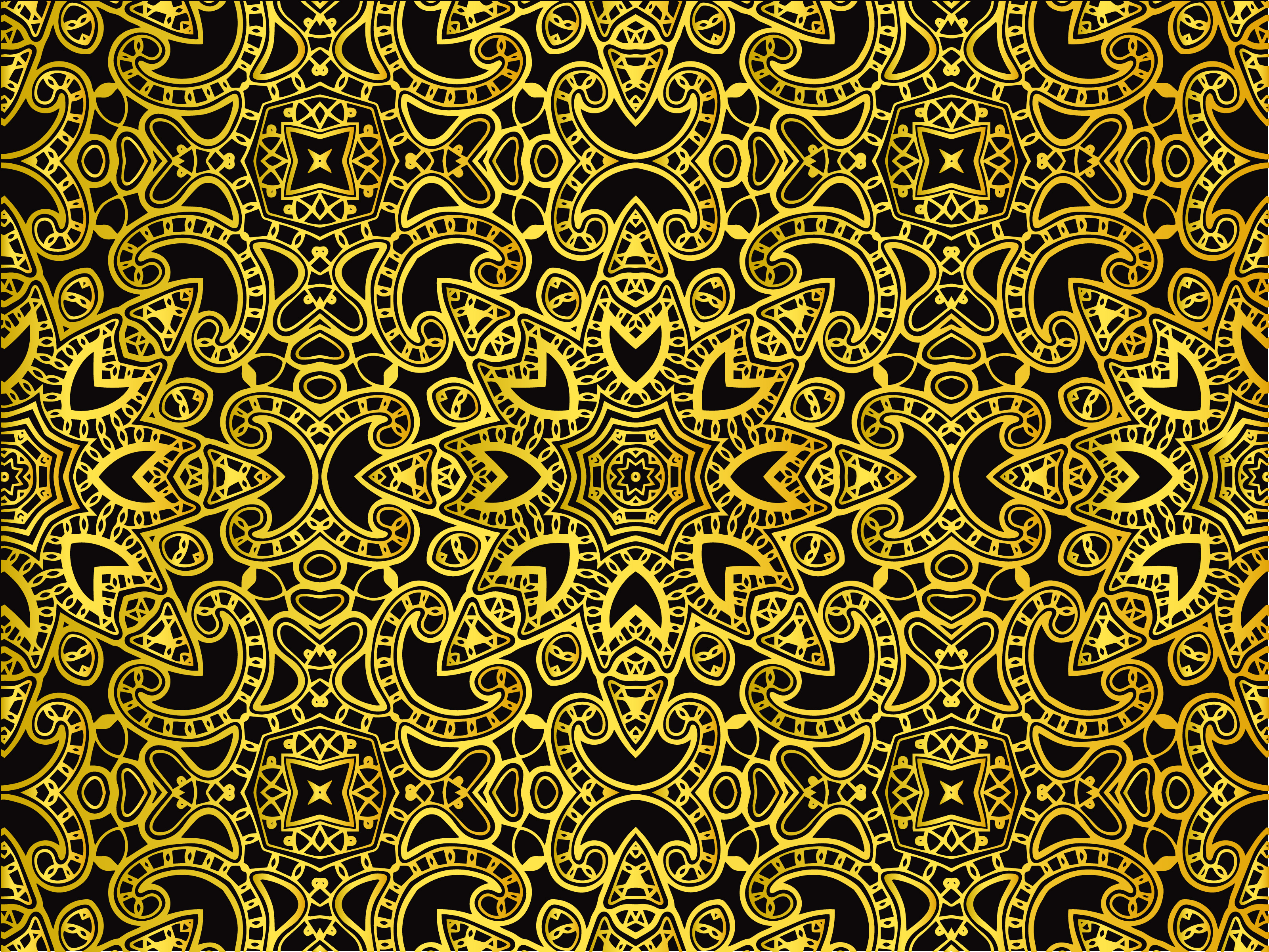 Download Free Abstract Pattern Gold Elegant Design Graphic By Vectorceratops for Cricut Explore, Silhouette and other cutting machines.