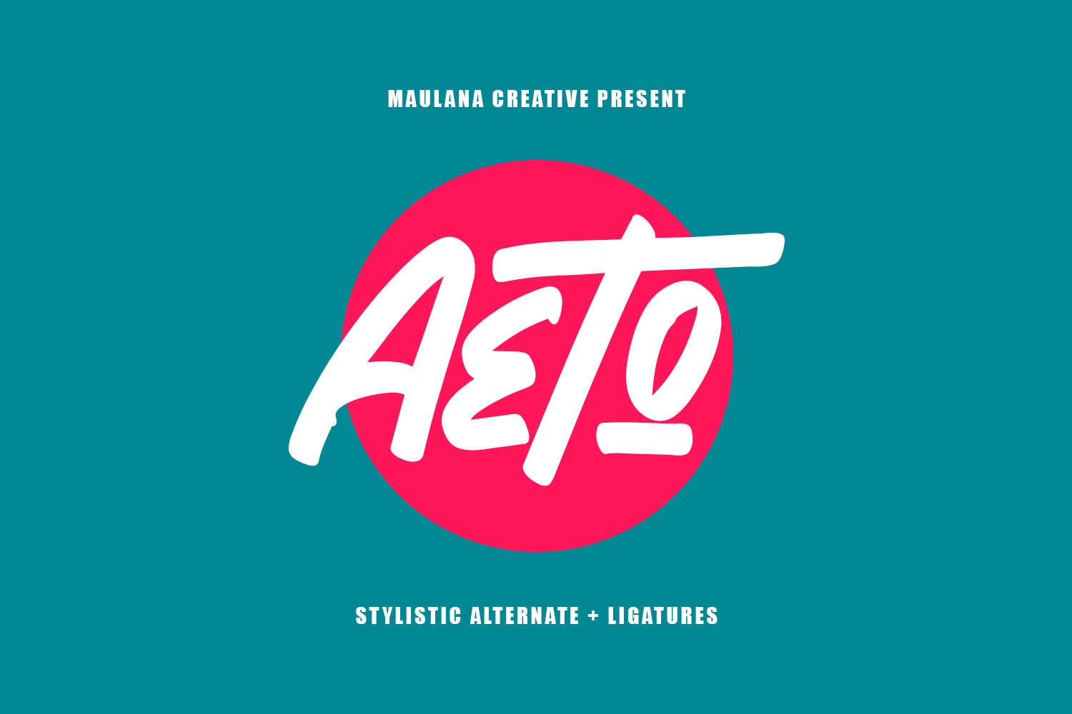 Download Free Aeto Font By Maulana Creative Creative Fabrica for Cricut Explore, Silhouette and other cutting machines.