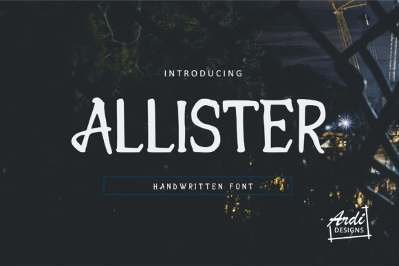 Print on Demand: Allister Serif Font By ArdiDesigns
