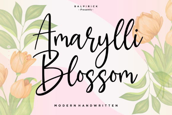 Print on Demand: Amarylli Blossom Script & Handwritten Font By Balpirick