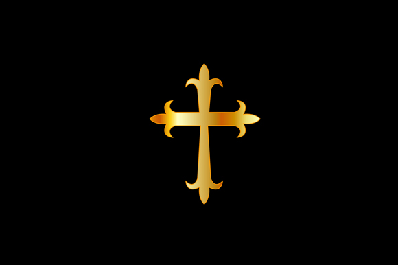 Download Free Antique Christian Cross Gold Graphic By Shawlin Creative Fabrica for Cricut Explore, Silhouette and other cutting machines.