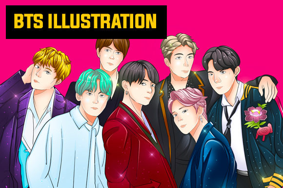 Download Free Bts All Member Cartoon Grafico Por Knou Creative Fabrica for Cricut Explore, Silhouette and other cutting machines.