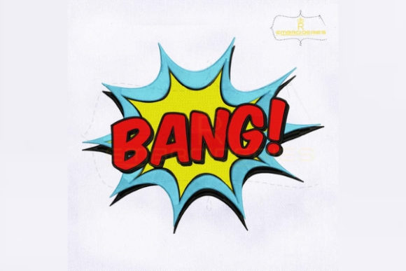Bang Sign Awareness & Inspiration Embroidery Design By RoyalEmbroideries - Image 1