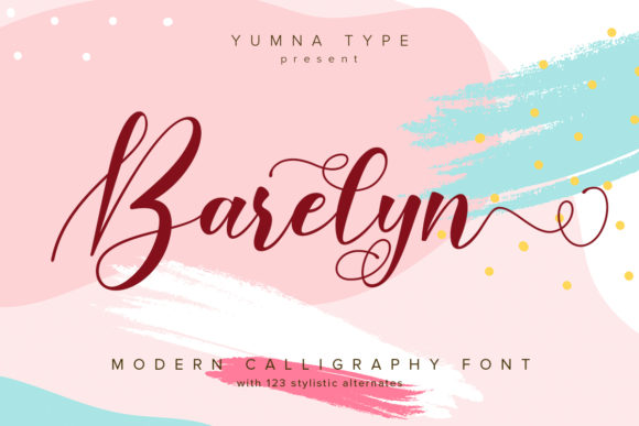 Print on Demand: Barelyn Script & Handwritten Font By Yumna_Type