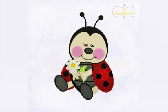 Beauteous Baby Ladybug Bugs & Insects Embroidery Design By RoyalEmbroideries