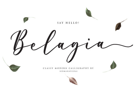 Print on Demand: Belagia Script & Handwritten Font By Sigit Dwipa