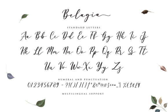 Belagia Font Preview
