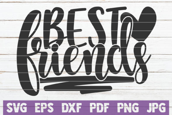 Download Free Best Friends Graphic By Mintymarshmallows Creative Fabrica for Cricut Explore, Silhouette and other cutting machines.